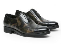 A TESTONI Camouflage Calf Leather Oxford Shoes MADE in ITALY  NEW